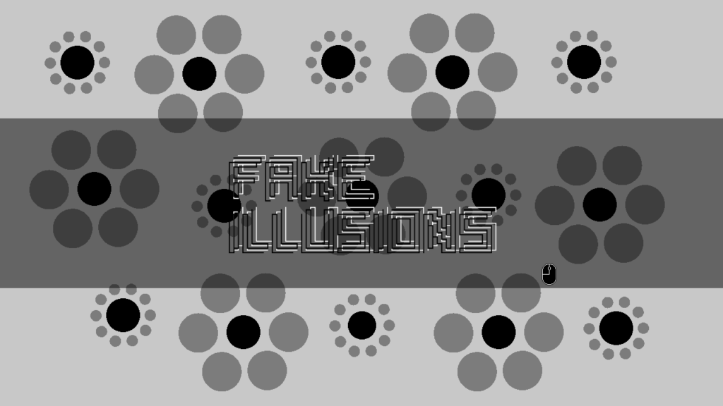 Fake Illusions title screen.