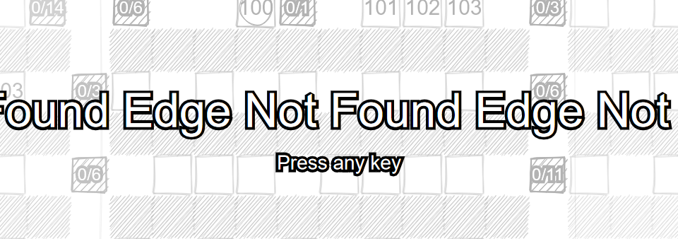 Title screen of Edge Not Found.